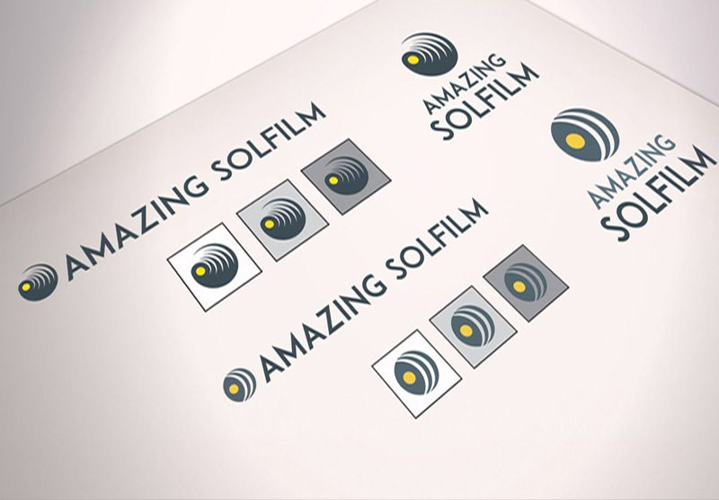 logo design amazing solfilm