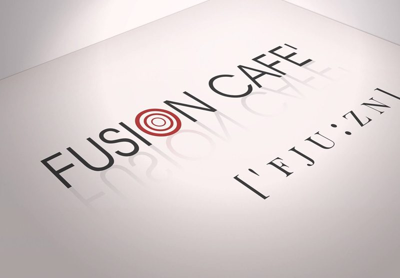 logo design fusion cafe